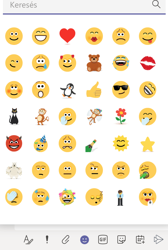 Microsoft Teams emojik