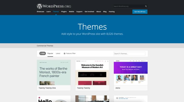 WordPress kezdőoldal